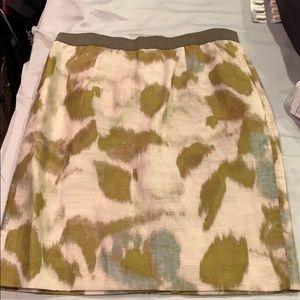 Loft 0p watercolor skirt